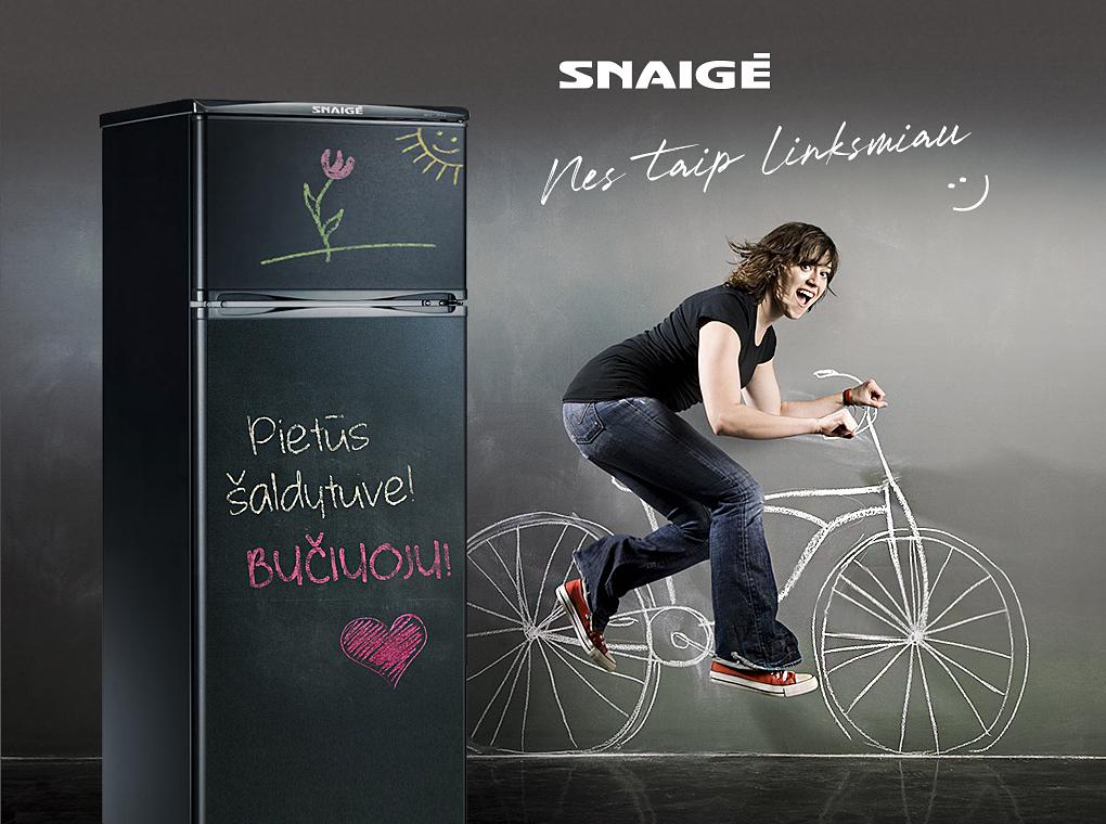 Šaldytuvas ant kurio galima rašyti kreida